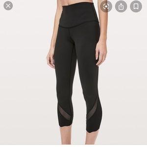 Lululemon limited edition scallop leggings black
